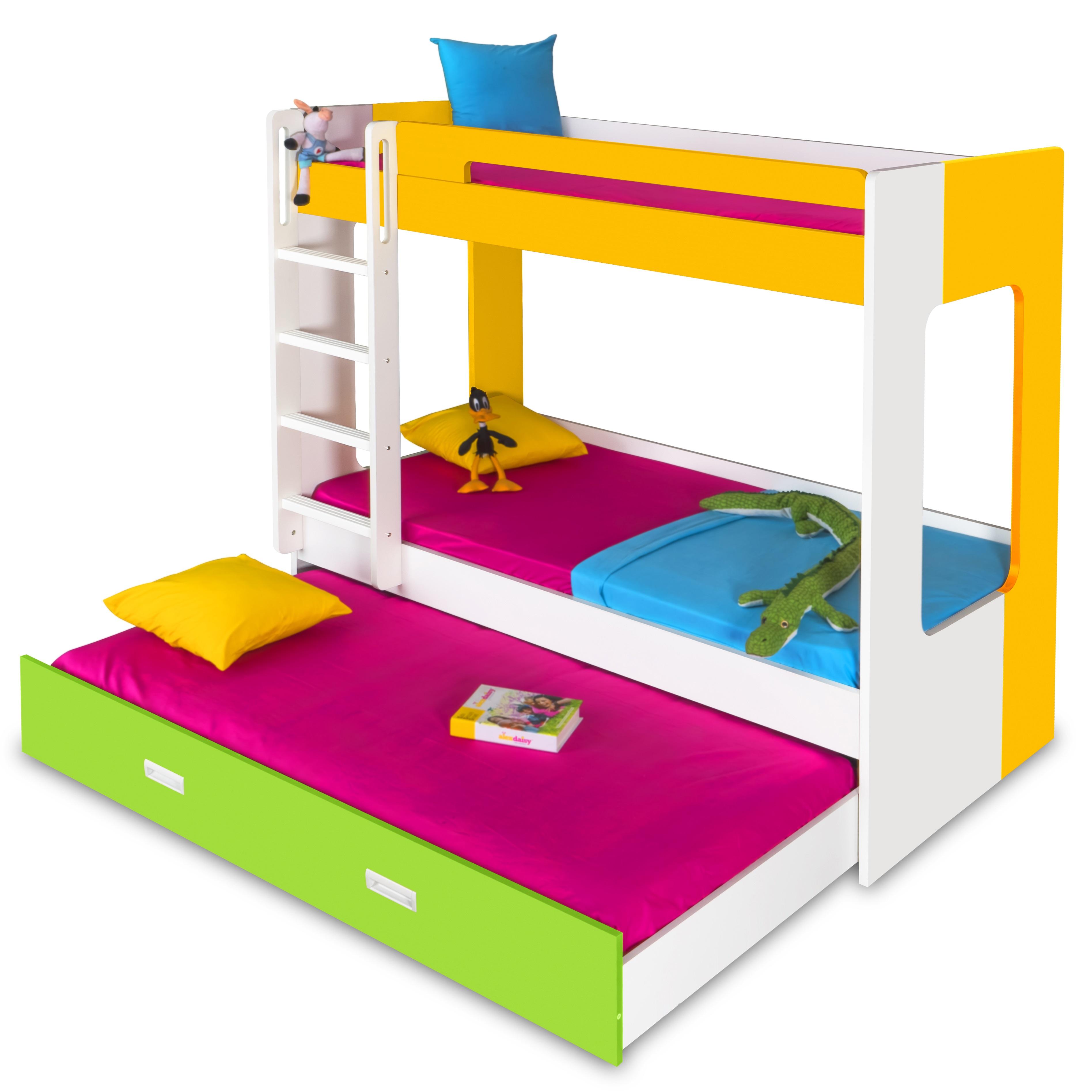 manhattan bunk bed yellow white green. Black Bedroom Furniture Sets. Home Design Ideas