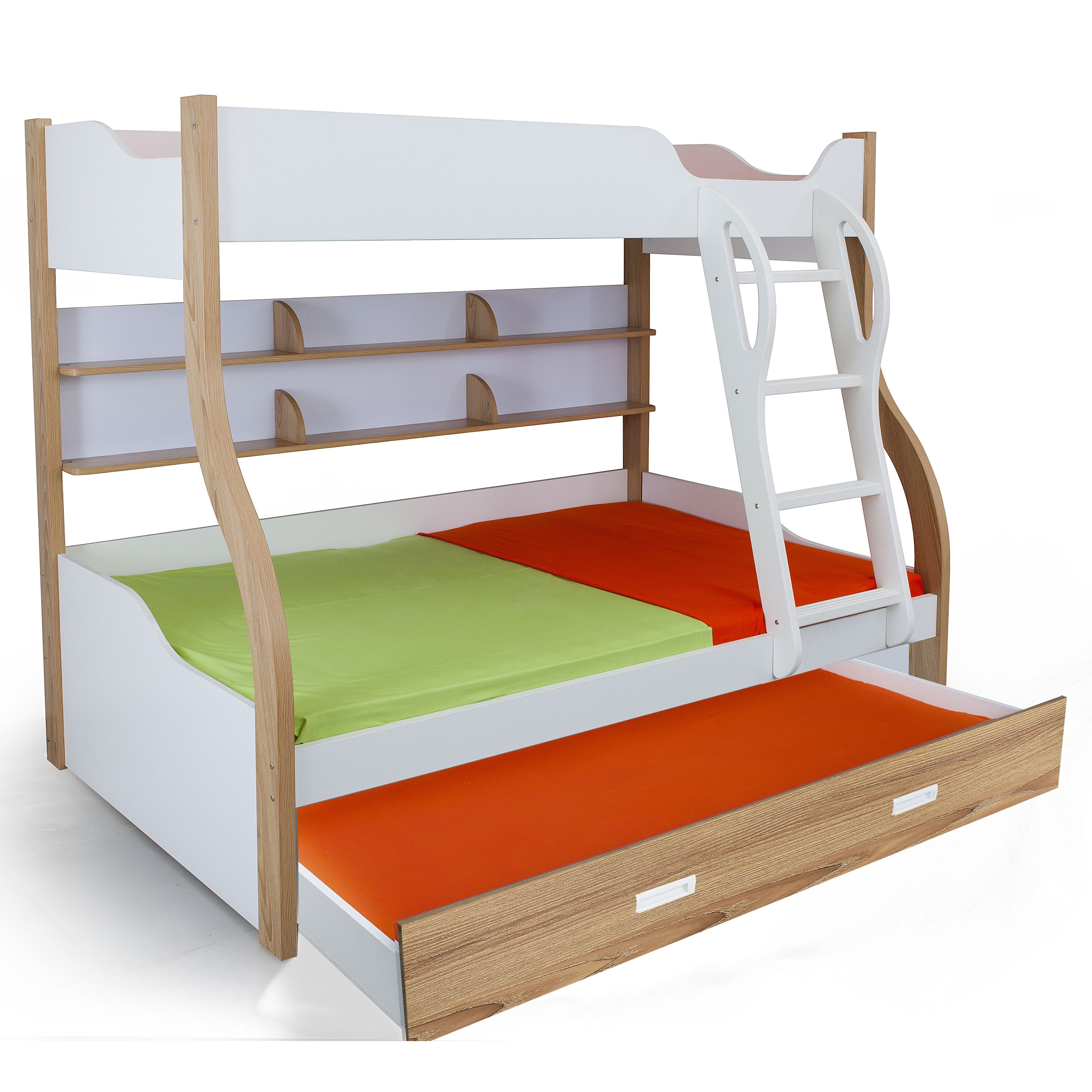 Columbia bunk with trundle bed kids bunk beds online for Loft bed with trundle