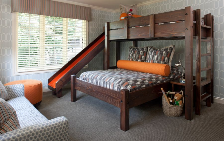 Toddler Bunk Beds With Slide Kids Bunk Beds Online Shopping India