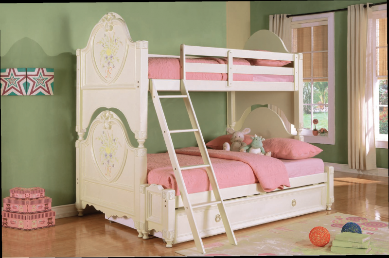 Princess bunk bed with matress