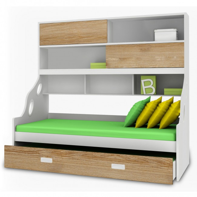 princess bunk bed with couch