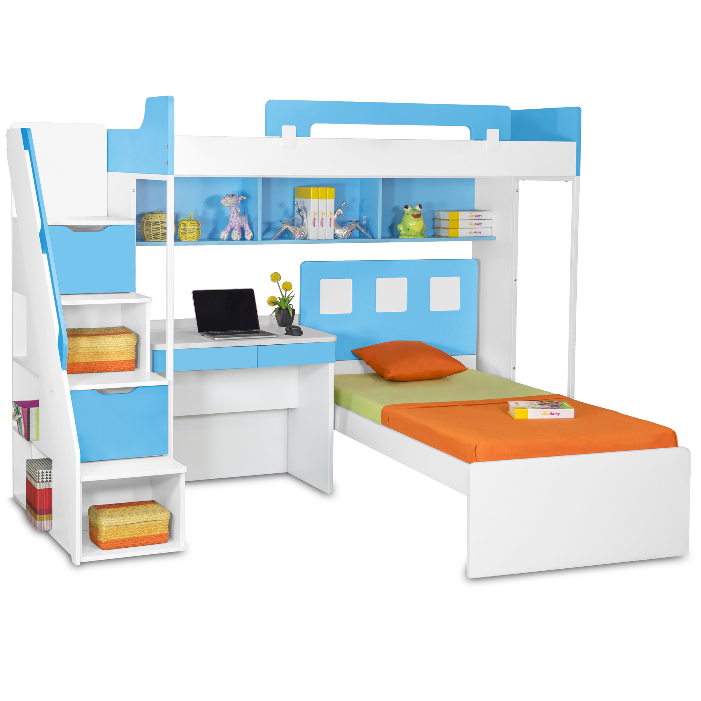 Milano Bunk Bed With Study Table Kids Bunk Beds Online