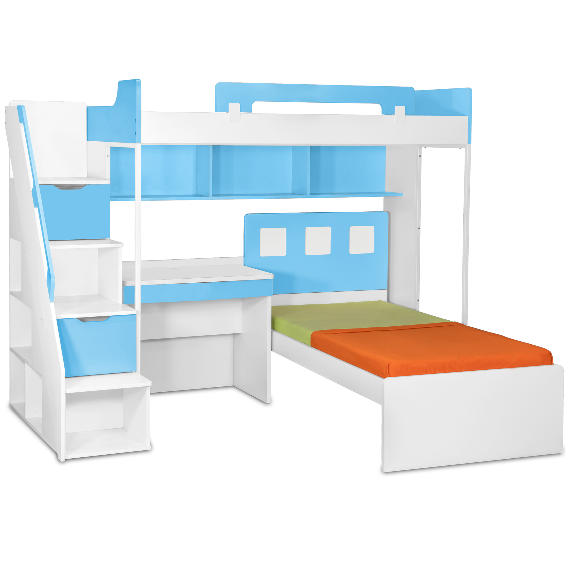 Online Shopping Study Table: Milano Bunk Bed With Study Table