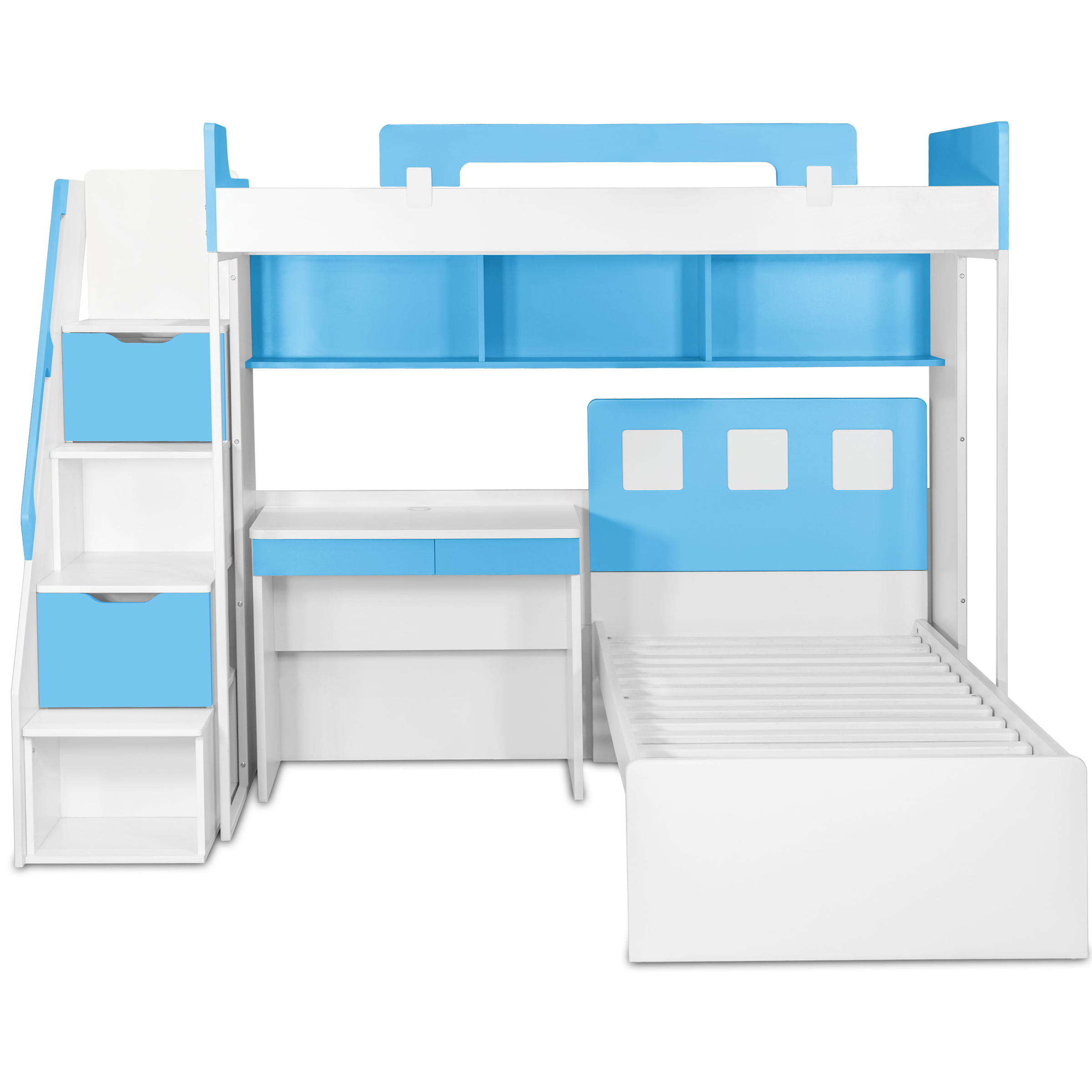 Milano Bunk Bed With Study Table Amp Chair Kids Bunk Beds
