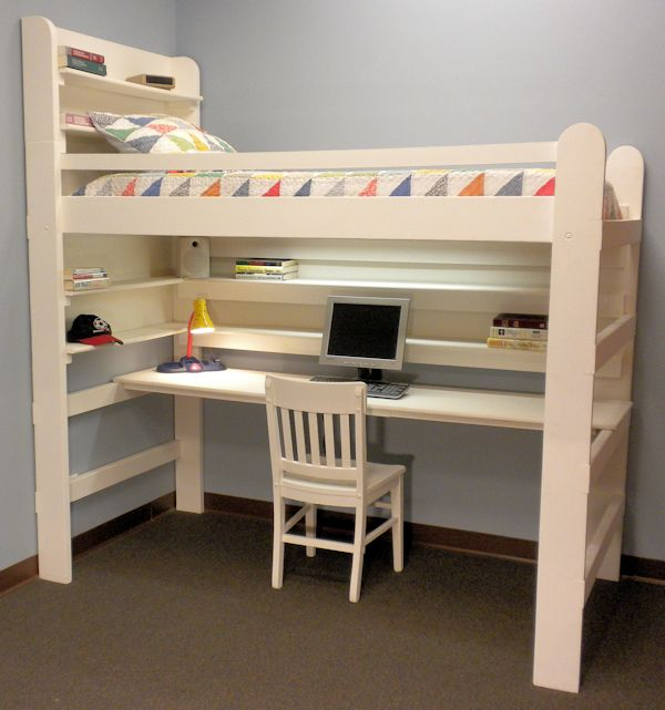 Advantages Of King Dimension Loft Bed With Stairs Loft u0026 Study Bunk Beds