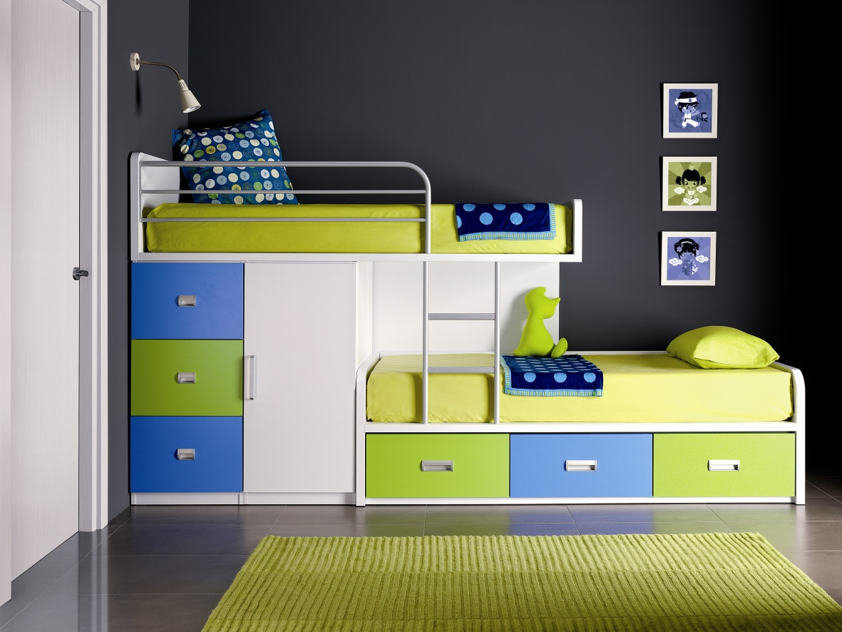 ladder cabin and finish storage bowen bed brand julian kids drawers low pink white kimbo in with sleeper