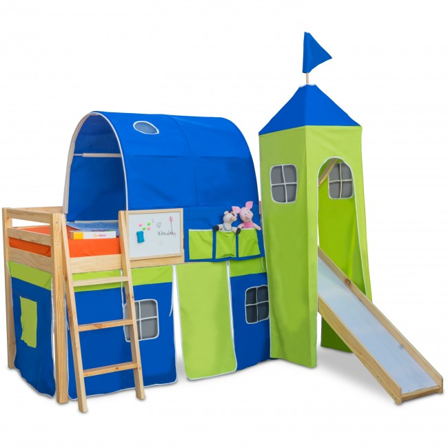 toddlers bunk beds with slide