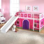 Princess bunk bed with slide