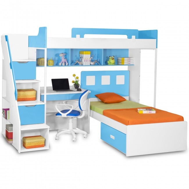Buy Bunk Beds With Desk From Online Store Kidsbunkbed In