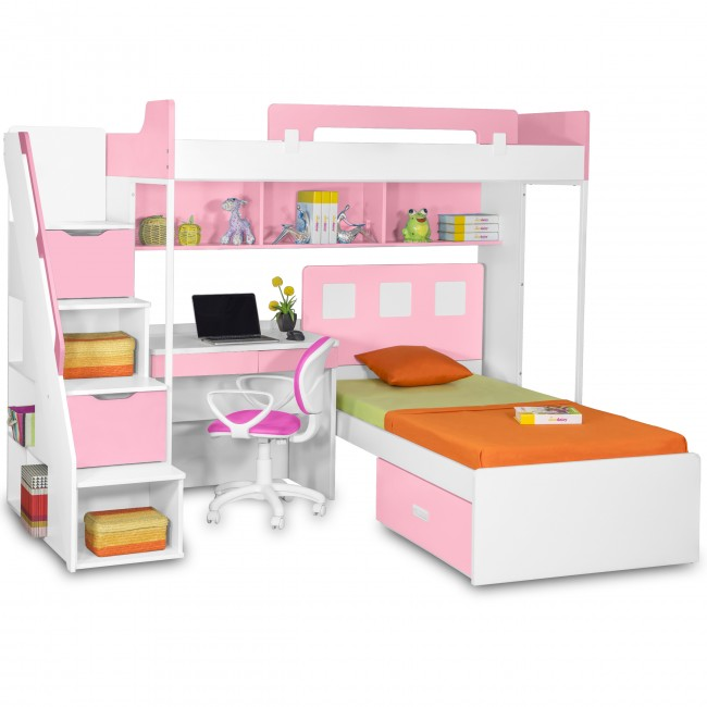 Loft & Study Bunk Beds for girls