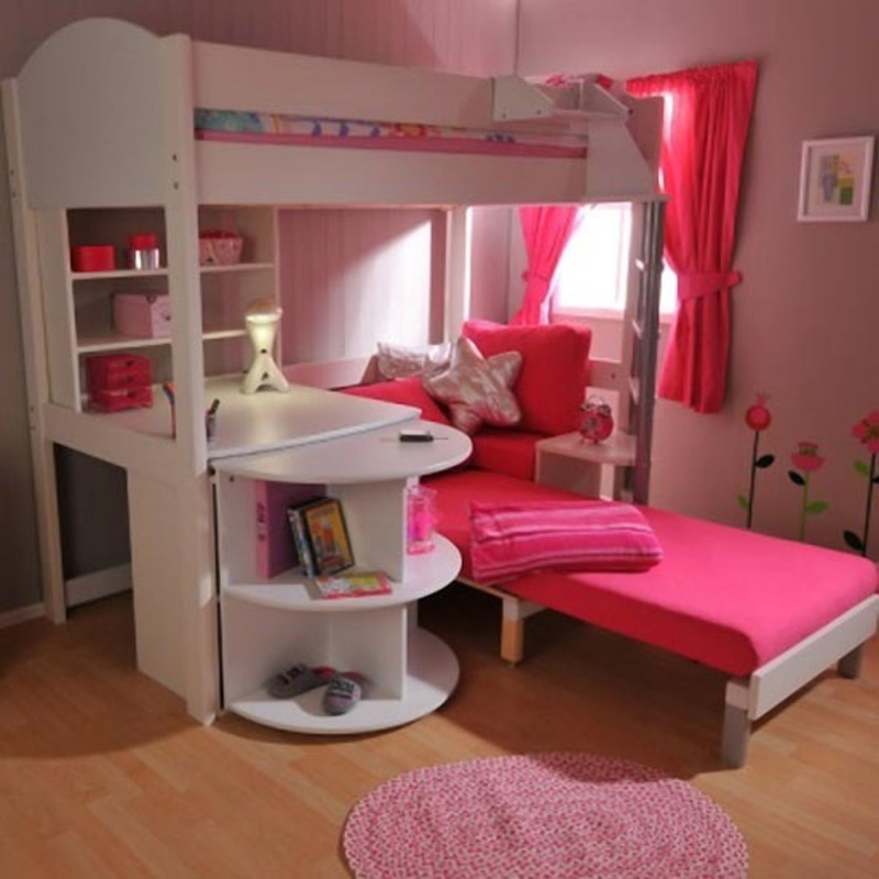 Princess-Bunk-Beds-With-Couch-For-Sale